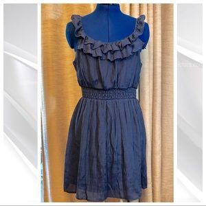 As U Wish   Blue Ruffle Mini Dress